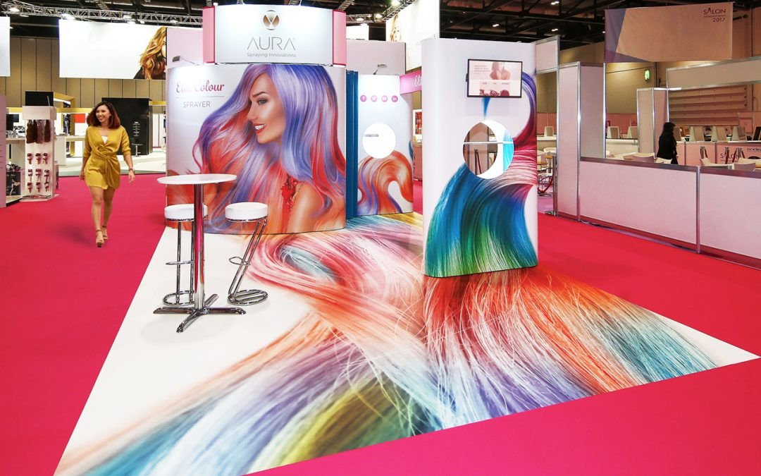 Quadrant2Design's Photo-Floor™ innovation – now bundled in with all their Free2hire™exhibition stands