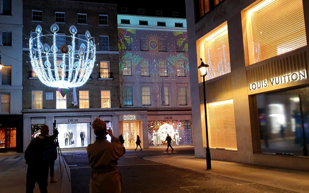 Motion Mapping create festive display on Dior's flagship London store